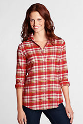 Women's Long Sleeve Pattern Flannel Shirt