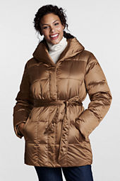 Women's Plus Size Metallic Shawl Collar Parka