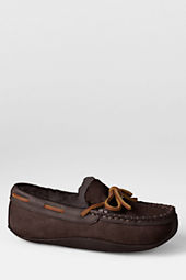 Boys' Shearling Canoe Moc Slippers