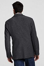 Wool Jersey 2-button Jacket 407961: Charcoal Heather