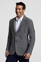 Wool Jersey 2-button Jacket 407961: Pewter Heather