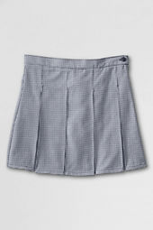 School Uniform Plaid Box Pleat Skirt (Top of the Knee)