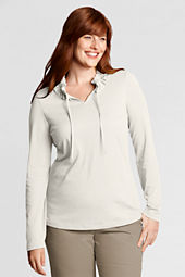 Women's Lightweight Jersey Gathered Tie-neck Top