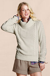 Canvas Women's Open Turtleneck Sweater