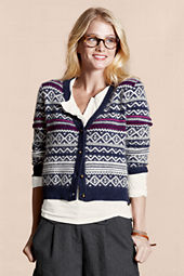 Canvas Women's Angora Fair Isle Cardigan