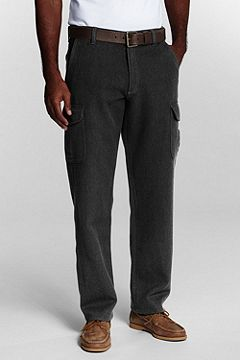 Lands' End Mariner Heather Twill Cargo Pants 408592