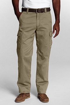 Lands' End Flannel-lined Cargo Pants 408595
