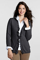 Women's FeelGood Ribbed Ruffle Cardigan Sweater