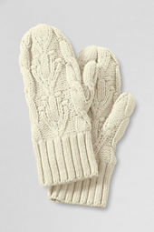 Girls' Cable Sweater Mittens