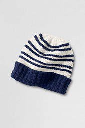 Women's Raised Stripe Cashmere Hat