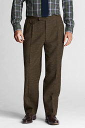 Men's Pleat Front Traditional Fit Donegal Trouser