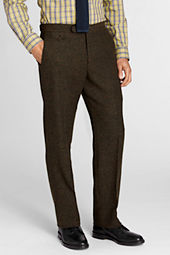 Men's Plain Front Tailored Fit Donegal Trouser