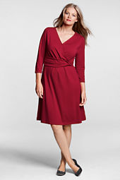 Women's Plus Size Ponté Twist Waist Dress