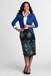 Women's Border Print Skirt