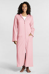 Women's Plus Size Knit Zip-front Robe