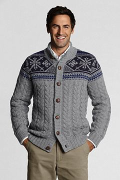 Shorewood Nordic Button Mock Sweater 408626: Pewter Heather