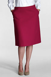 Women's Plus Size Comfort Waist Wool Skirt