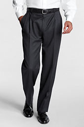 Men's Pleat Front Traditional Fit Pattern Flannel Trouser