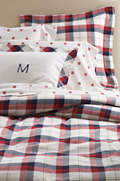 5-oz Flannel Mariner Plaid Duvet Cover or Sham