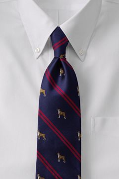 Dog Double Stripe Necktie 409165