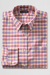 Men's Buttondown Tailored Pattern No Iron Oxford Shirt
