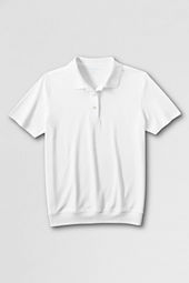 School Uniform Short Sleeve Relaxed Banded Bottom Polo Shirt