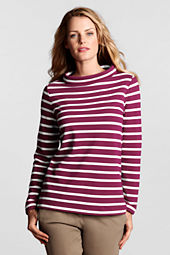 Women's Starfish Stripe Terry Portrait Collar Top