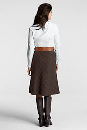 Women's Windowpane Flare Skirt