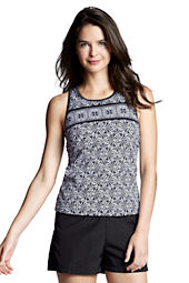 Women's Sport Tankini Scroll Scoopneck Tankini Top
