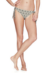 Women's Lela Beach Etched Floral Low Rise Bikini Bottom