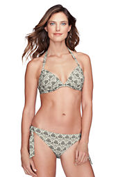 Women's Lela Beach Etched Floral Underwire Bikini Top