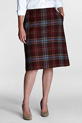 Women's Plus Size Pattern Comfort Waist Wool Skirt