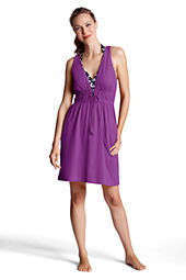 Women's Plus Size Lightweight Jersey Cover-up Dress