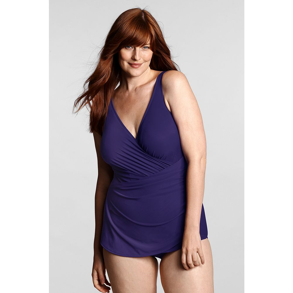 Lands' End Women's Plus Size Tulip One Piece Slender Suit at Sears.com