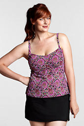 Women's Plus Size Beach Living Paisley Scoop Tankini Swimsuit Top