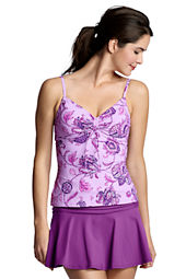 Women's Beach Living Floral Adjustable Scoop Tankini Top