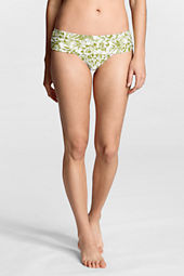 Women's Beach Living Palm Floral Banded Bikini Bottom