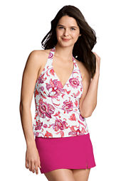 Women's Beach Living Orchid Floral V-neck Tankini Top