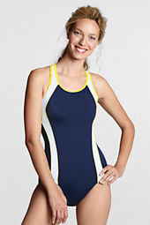 Women's AquaFitness Butterfly Scoop Splice One Piece Swimsuit