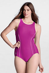 Women's AquaFitness FlutterKick High Neck One Piece Swimsuit
