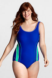 Women's AquaFitness FlutterKick Scoop One Piece Swimsuit