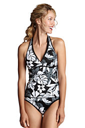 Women's AquaTerra Aqua Floral V-neck Tankini Top
