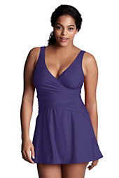 Women's Plus Size Slender Tulip Swimdress
