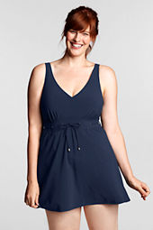 Women's Plus Size Regatta V-neck Swimdress