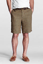 Men's Traditional Fit Linen Blend Shorts