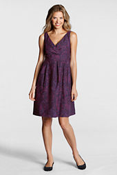 Women's Pattern Cotton Silk Flare Dress