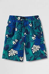 Boys' Slim Pattern Beach Board Shorts