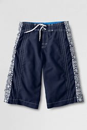 Boys' Surf Camp Embroidered Long Half-elastic Board Shorts