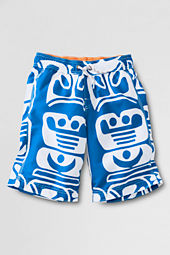 Boys' Large Pattern Surf Camp Swim Trunks