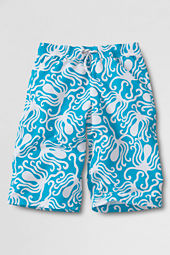 Boys' Boat Races Pattern Long Swim Trunks